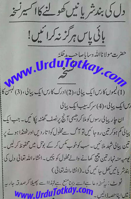 heart urdu totkay
